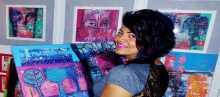 حكايات عن المرأة  ترويها الفنانة الفلسطينية ريما المزين في معرضها ( حكايتها مع الشجر ) بزارا سنتر