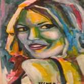 """الرسامة زينب النفزي ضمن """" ايقاع اللون """" بالنادي الثقافي الطاهر الحداد"""