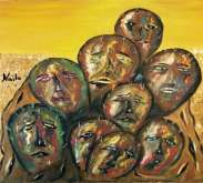 جذور الصمت..لوحة الفنانة نائلة تلس أبو شقرة