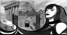 """الفنان زاهد عزَّت حرش يهدي السيدة فيروز لوحة """"عيوننا اليكي"""""""