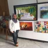 الفنانة التشكيلية سميرة أيت عيسى : لوحاتي إبداع من إشراقات الحياة