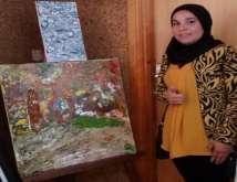 """التشكيلية """"الحسنية بلا"""": المتتبع لتجربتي الفنية يكتشف أن لوحاتي جزء مني"""